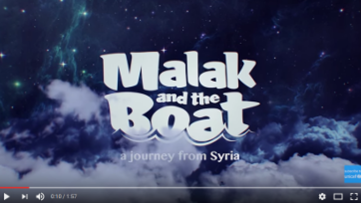 Malak and the boat Image